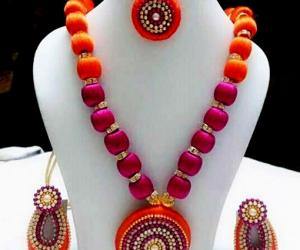 Silk Thread Jewellery Making