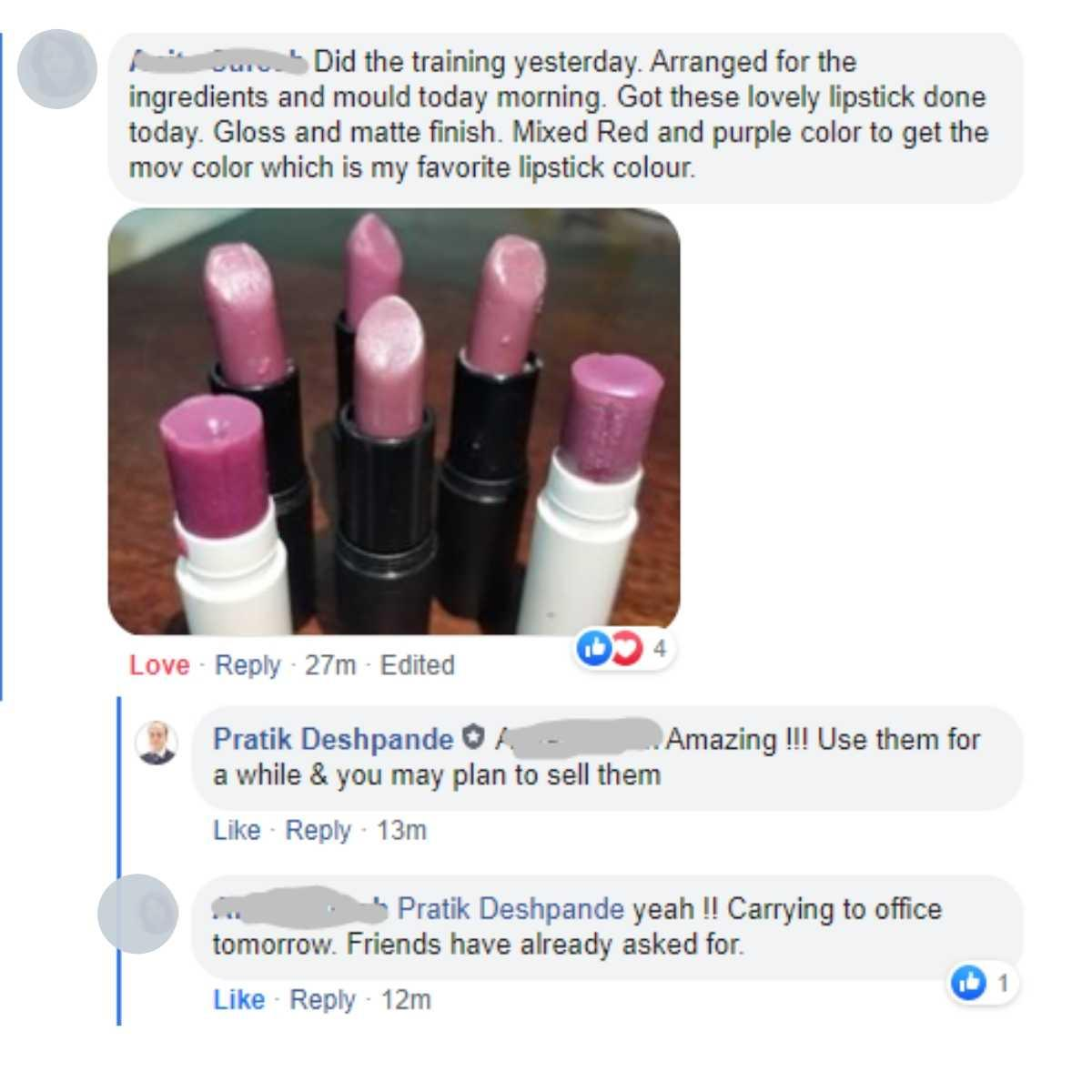 lipstick making online course