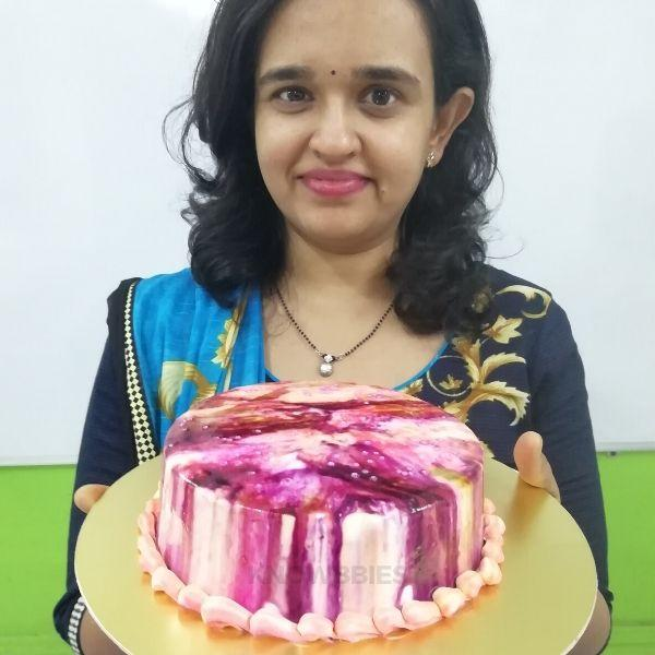 Online Course For Marbel Print Cake. Cake class online. Easy Online Cake Class.