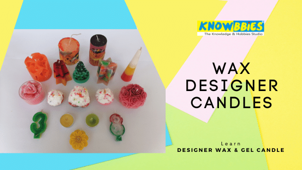 Wax Candles Designer Candle Making Online Course in Hindi wax gel candles