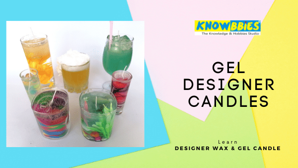 Gel Candles Designer Candle Making Online Course in Hindi wax gel candles