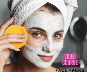 Face Packs + Face Scrubs Video Course (Pre-Recorded)