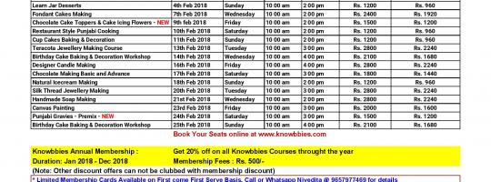 February Training Calendar is here. Plan your Dates with Knowbbies